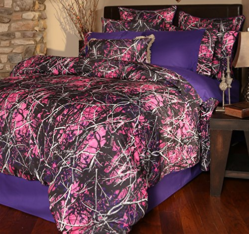 Carstens Muddy Girl Camo 3 Piece Comforter Bedding Set, Twin by Carstens