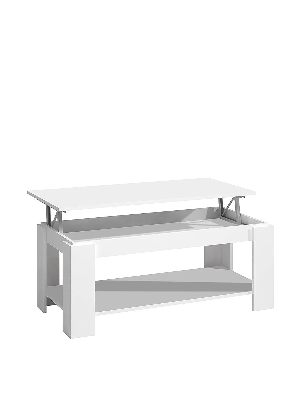 13Casa - Future A2 - Tavolino sollevabile. Dim: 102x50x43 h cm. Col: Bianco. Mat: Melamina. F00530601004_WHITE