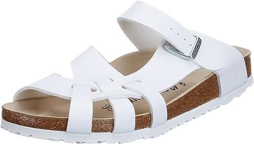 Birkenstock Pisa White Birko Flor Sandals Regular Width