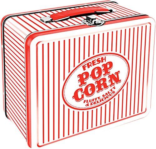 Vintage Tin Lunch Boxes (Aquarius Vintage Popcorn Large Tin Fun Box)