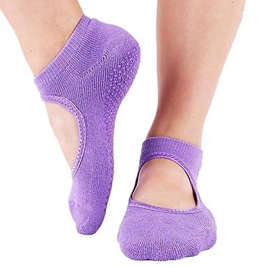 Mujeres Ballet Danza Deporte Yoga Pilates Zapatillas Antideslizantes Calcetines Cortos Chicas Calcetines De Tobillo