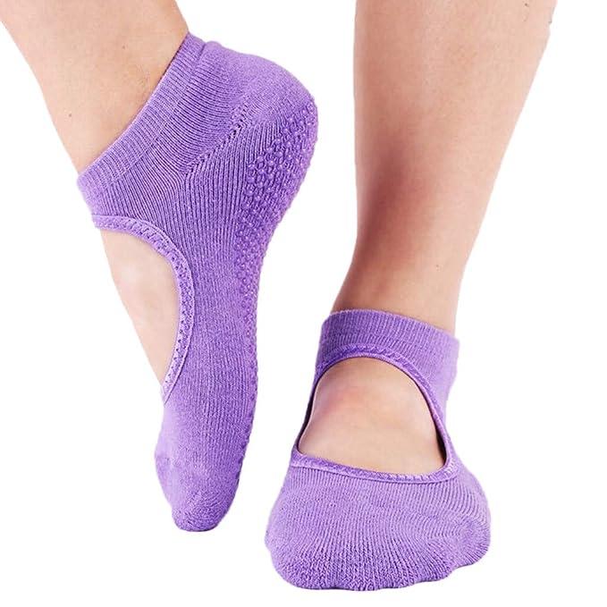 Hanomes Calcetines De Yoga Calcetines Antideslizantes para ...