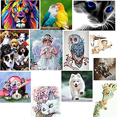 DIY 5D Diamond Embroidery Paintings Cat Cross Crafts Stitch Flower Partial Drill from Akabsh 199