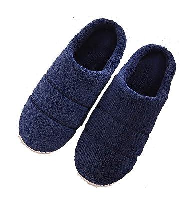 c125d21e03b5 Ladies Slippers Soft Memory Foam Comfort Warm Plush Indoor Shoes Anti-Slip  Winter House Shoes for Women Men Size  Amazon.co.uk  Shoes   Bags