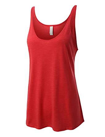 3e8510163a44e1 Image Unavailable. Image not available for. Color  RK RUBY KARAT Premium  Womens Comfy Loose Fit Scoop Neck Flowy Tank Top