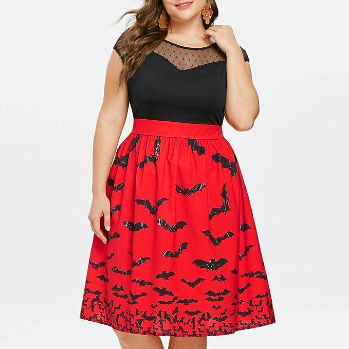 Adulto Disfraz de Halloween Vestidos de oscilación Vintage sin ...