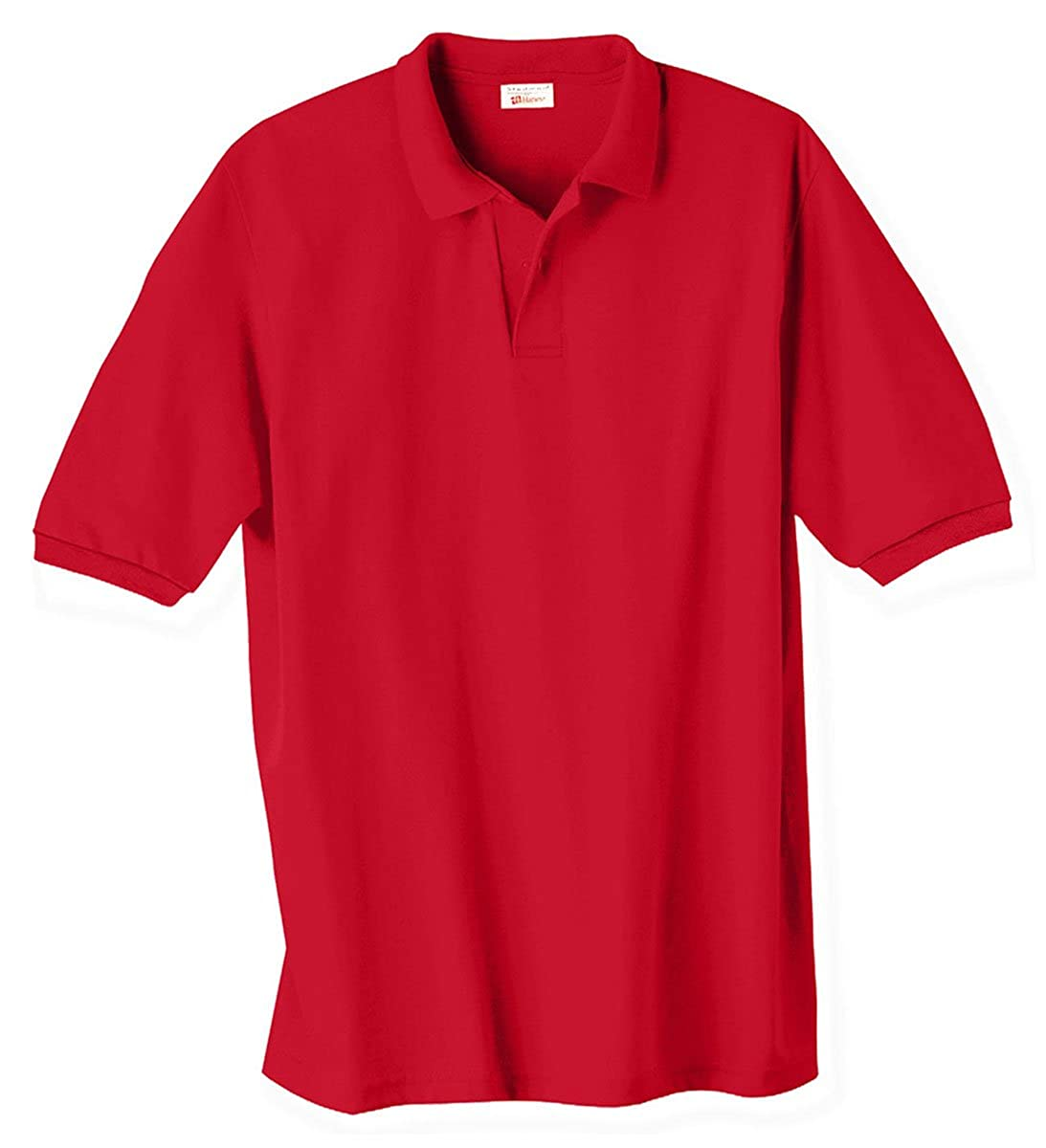 Medium Stedman by Hanes 5.5 oz 50//50 Jersey Knit Polo in Deep Red