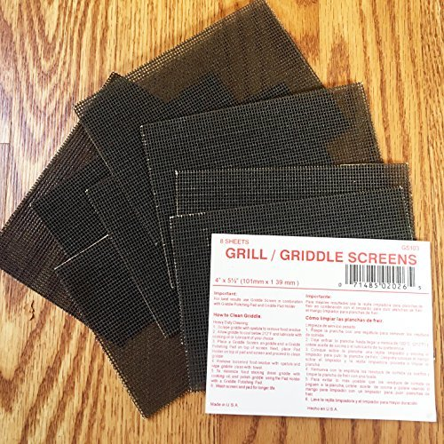 Grill/Griddle Screens - 40 sheets - 4 x 5 1/2 by ACS