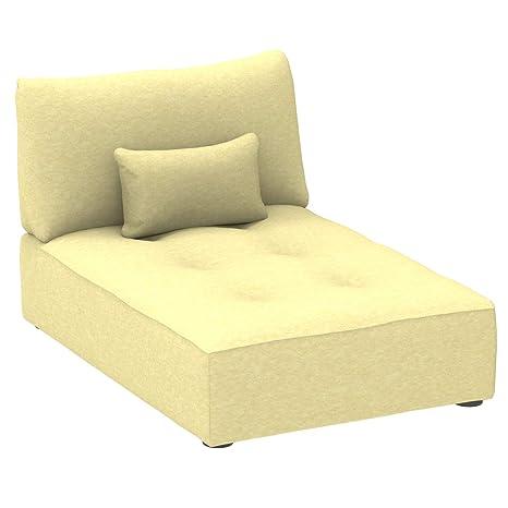 Marca Amazon - Alkove Elvas - Módulo chaise longue con almacenaje y cojín adicional para sofá modular, 93 x 145 cm, verde lima