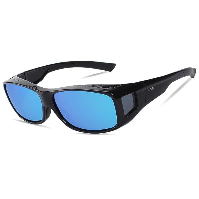 CGID Lentes de sol para usar sobre lentes de prescripción RX lentes que se ajustan lentes polarizados, Cubiertas, TJ08