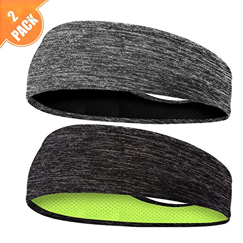 (EasYoung Headbands for Men, 6/3/2/1 Pack Sweat Bands Headbands Mens Sport Cooling Headbands for Running, Crossfit, Working Out and Performance Stretch Guys Hairbands)