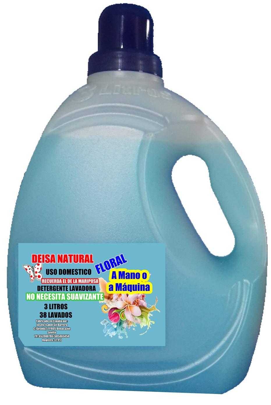 DEISA NATURAL DETERGENTE Natural Lavadora Floral 3 litros 38 ...