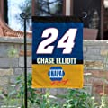 NASCAR Chase Elliot #24 Two Sided Garden Flag