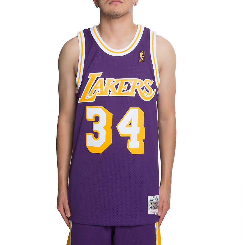 buy online dbcb0 029ce Mitchell & Ness Shaquille O'Neal Los Angeles Lakers NBA ...