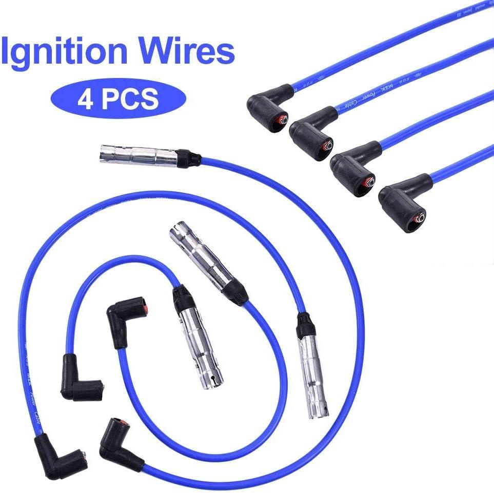Juego de Cables de bujías para VW Jetta 2011-2014, 2000-2001, VW Beetle 1998-2001: Amazon.es: Hogar