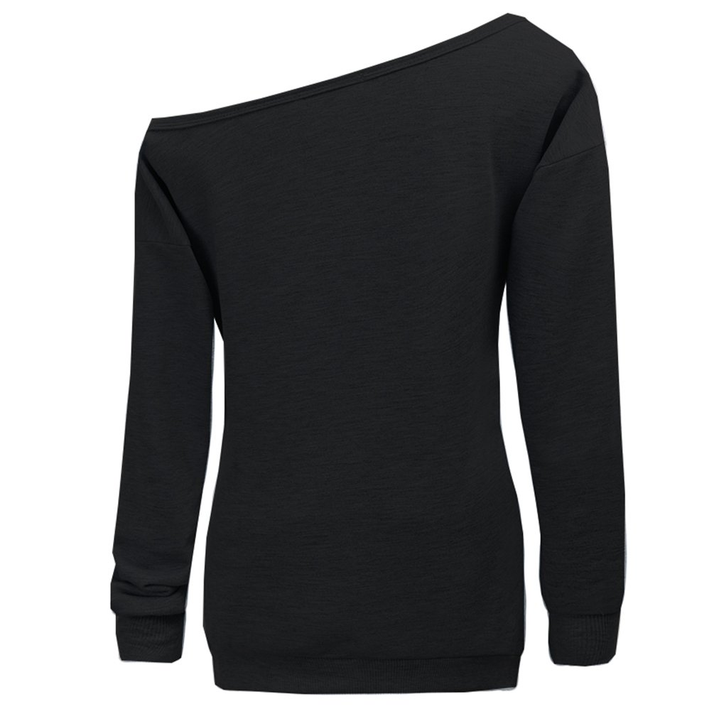 ae6cf4a1c0922 Amazon.com  Dutebare Women Halloween Off Shoulder Sweatshirt Slouchy Witch Shirt  Long Sleeve Pullover Tops  Clothing