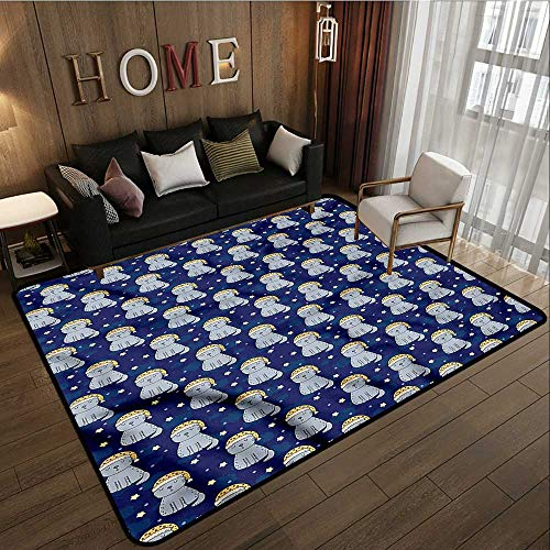 Rectangular Rug Cats Sleeping Cats Nighty Night Ideal Gift for Children ()