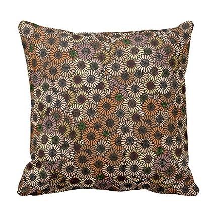 Earth Tone Throw Pillows.Amazon Com Mix And Match Earth Tone Flowers Throw Pillow