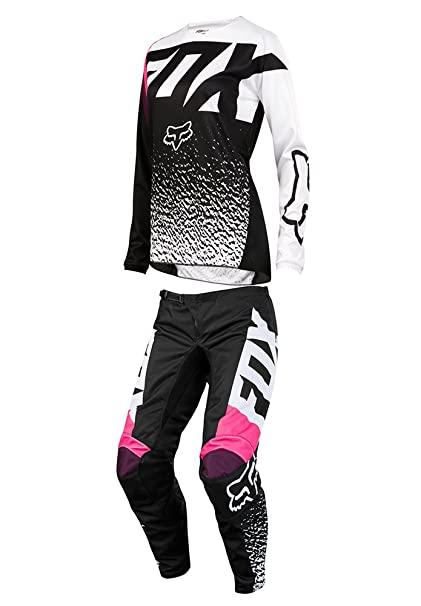 2da62a0a545 Fox Racing 2018 Womens 180 Combo Jersey Pants Black Pink MX ATV Offroad Dirtbike  Motocross