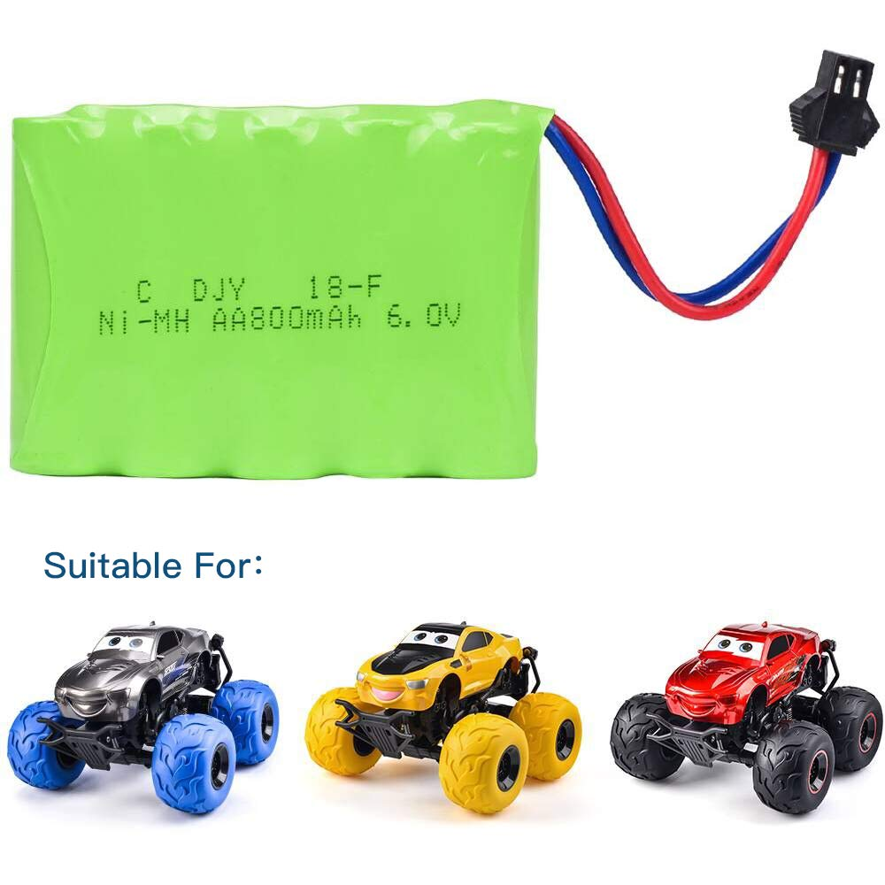 Rechargeable Nickel Hydride Battery 6.0V 800mAh Universal for Super RC Car