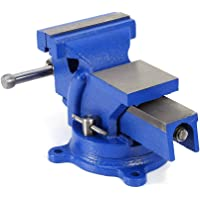 """4"""" Bench Vise, Heavy Duty Table Top Clamp 4inch Jaw Width 360-Degree Swivel Workshop Vise Multiple Functions for Craft…"""
