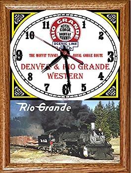 "Denver & Rio Grande Western Railroad ""493 at Cumbres Pass"" Wood Framed Clock"
