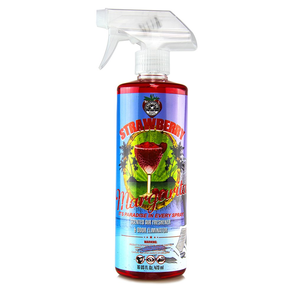 Chemical Guys AIR_223_16 Strawberry Margarita Premium Air Freshener and Odor Eliminator (16 oz) by Chemical Guys