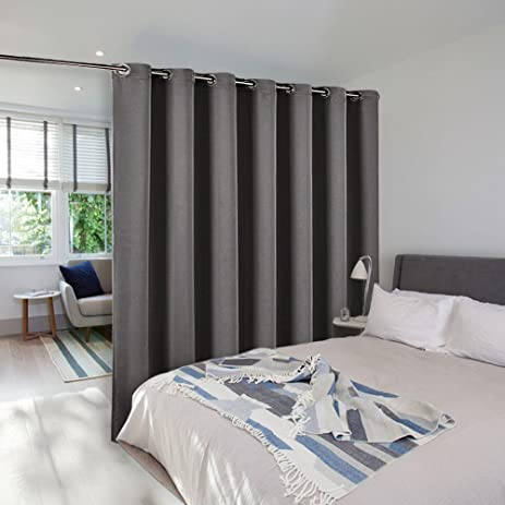 Room Divider Curtain Screen Partitions   NICETOWN Thermal Insulated  Blackout Patio Door Curtain Panel, Sliding