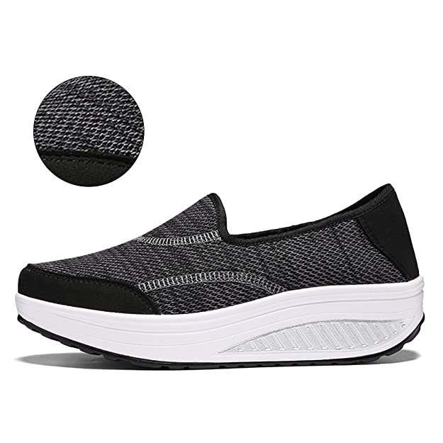 Amazon.com | Hishoes Womens Comfort Platform Walking Sneakers Lightweight Casual Tennis Air Fitness Shoes Driving Loafers | Walking
