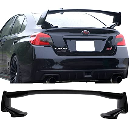 Pre-painted Trunk Spoiler Fits 2015-2019 Subaru WRX STI | STI Style ABS  #D4S Crystal Black Silica Pearl Trunk Boot Lip Spoiler Wing Deck Lid Other