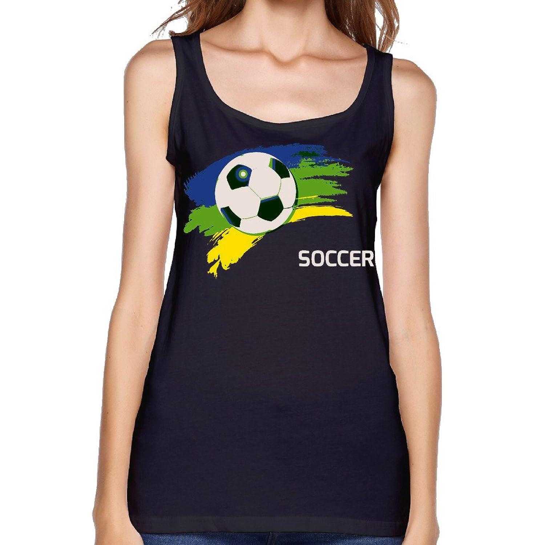 MSCUEYBR Women's Brazil Football Tank Top-Gray