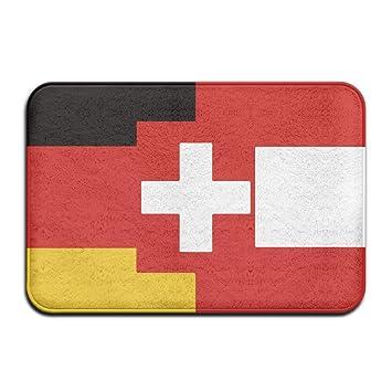 Diyabcd allemand Suisse Drapeau autrichien Paillasson antidérapant ...