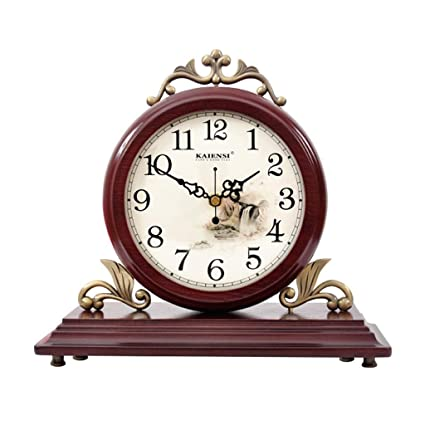 Fireplace Watches Family Style Table Clock European Mute Wooden Desk Clock Decoration ó N for Living