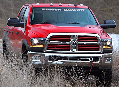 DODGE POWER WAGON WINDSHIELD DECAL (GREY)