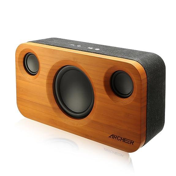 Archeer A320 Bamboo Bluetooth Lautsprecher,Tragbarer Bluetooth ...