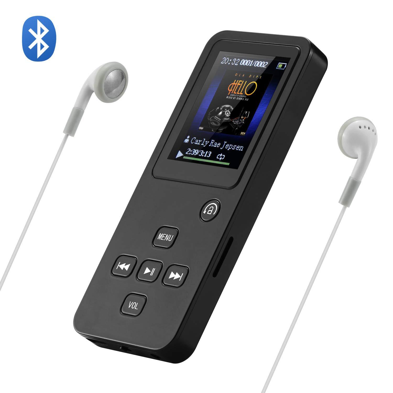 NEXGADGET Reproductor MP3 / MP4 Bluetooth 4.0 16GB 1.8 Pulgadas HIFI Reproductor Música para el Deporte Soporte Micro SD hasta 128 GB con Altavoz Incorporado, FM Radio, Podometro, Auriculares, etc