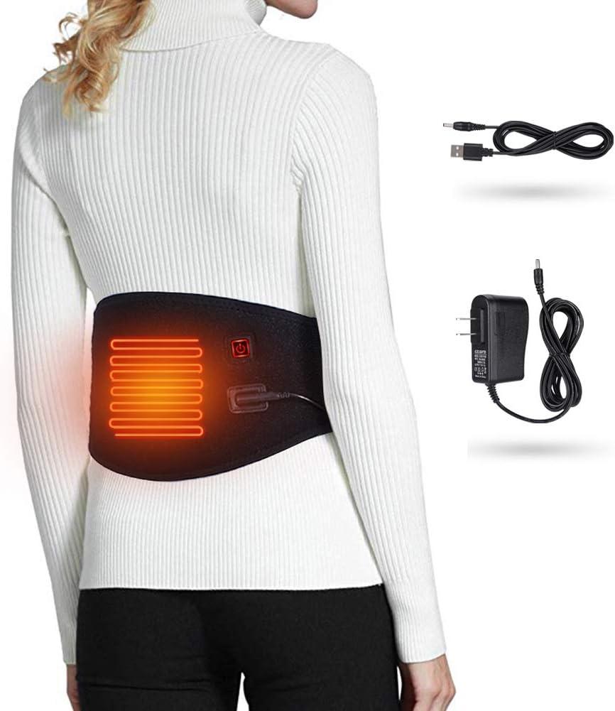 Waist Heating Pad Electric Belt for Lower Back Pain, Hot Cold Therapy Heated Waist Belt for Lumbar Spine Arthritis, Strains, Sprains, Stiffness Relief Labor Abdominal Heating (Heated Waist Belt)