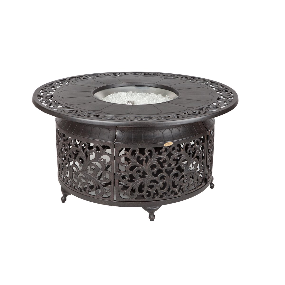 Amazoncom Fire Sense Cast Aluminum LPG Fire Pit Discontinued By - Cast aluminum gas fire pit table