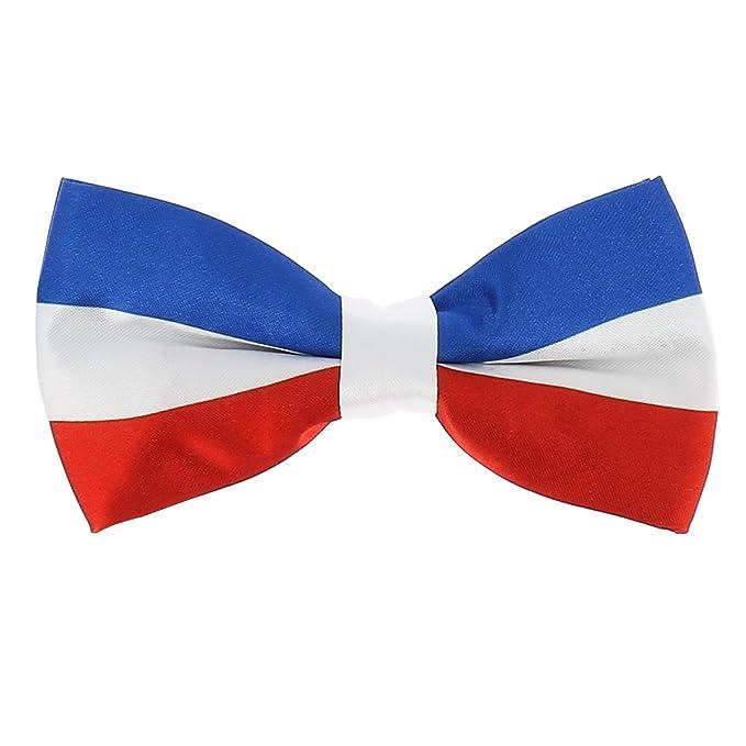 Noeud Papillon Drapeau Tricolore Bleu Blanc Rouge Bleu Blanc Et Rouge Taille Unique