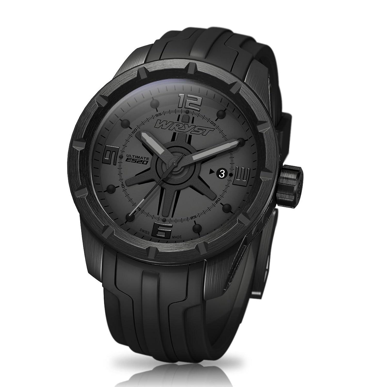 Schwarz auf Schwarz Schweizer Uhr wryst Ultimate ES20 FÜr Sport