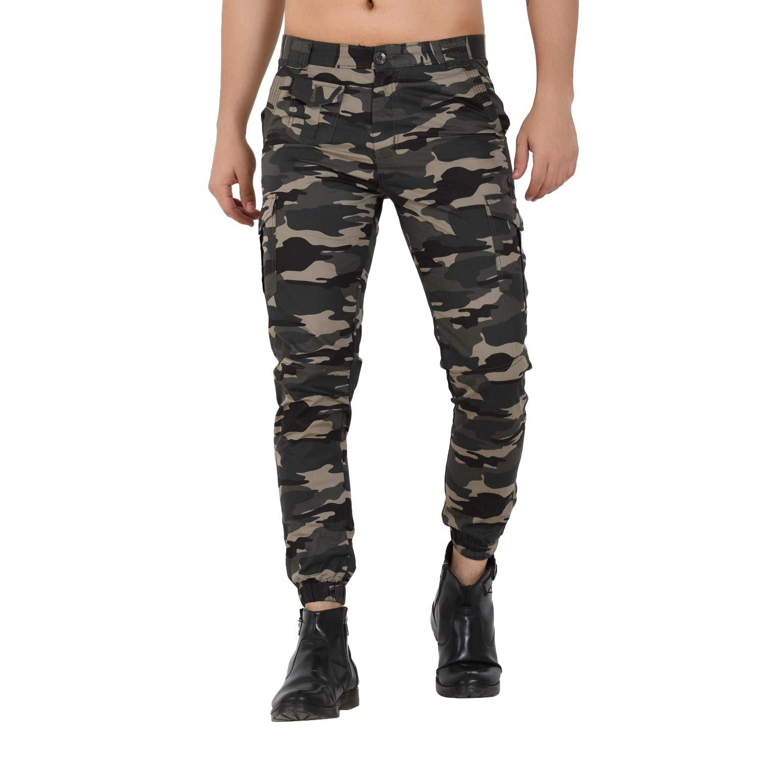 good texture how to orders great discount for Sapper Military Camouflage camo Army Slim fit Cargo Joggers Pants for Mens