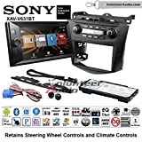 06 honda accord double din - Volunteer Audio Sony XAV-V631BT Double Din Radio Install Kit with Bluetooth USB AUX No CD For 2003-2007 Honda Accord (Factory climate controls)