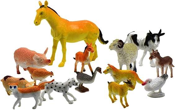 Ensemble éducatif de figurines d/'animaux de ferme avec un cadeau de jouets