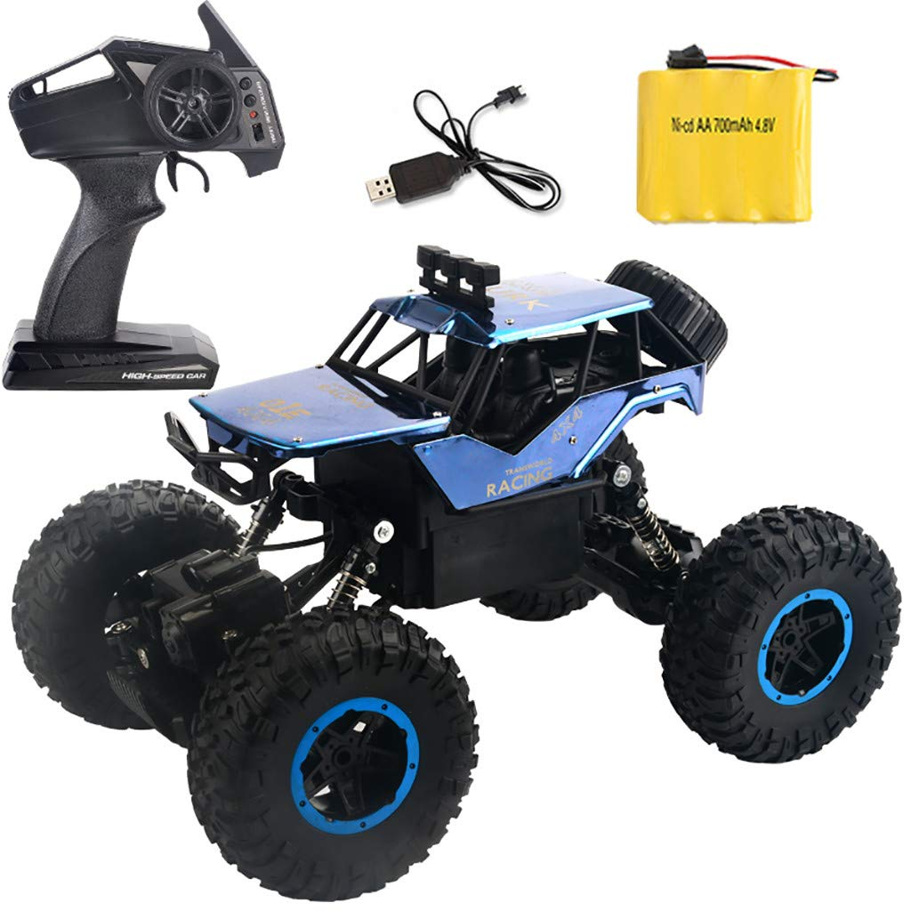 Hot  RC Car Toys for Kids Age 8 1:14 2.4G HZ 4WD RC Off-Road Truck Rechargeable 30km/h High Speed RTR RC Car, Best Birthday Gifts for Boys and Girls (♥ Blue)