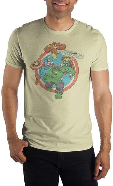 Marvel Comics Movie Captain America Star Punch Adult T Shirt