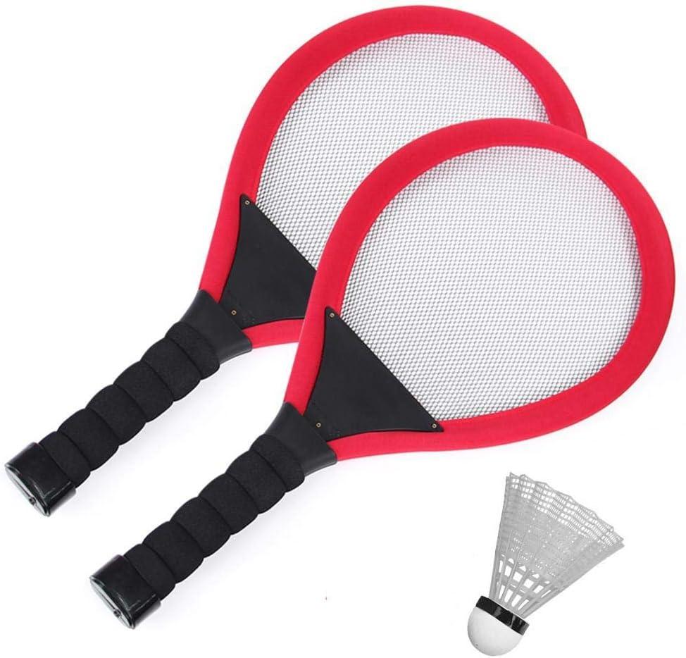 Goodfans 1set Fashion LED Luminous Badminton Racket Set Badminton Game Set Racquets