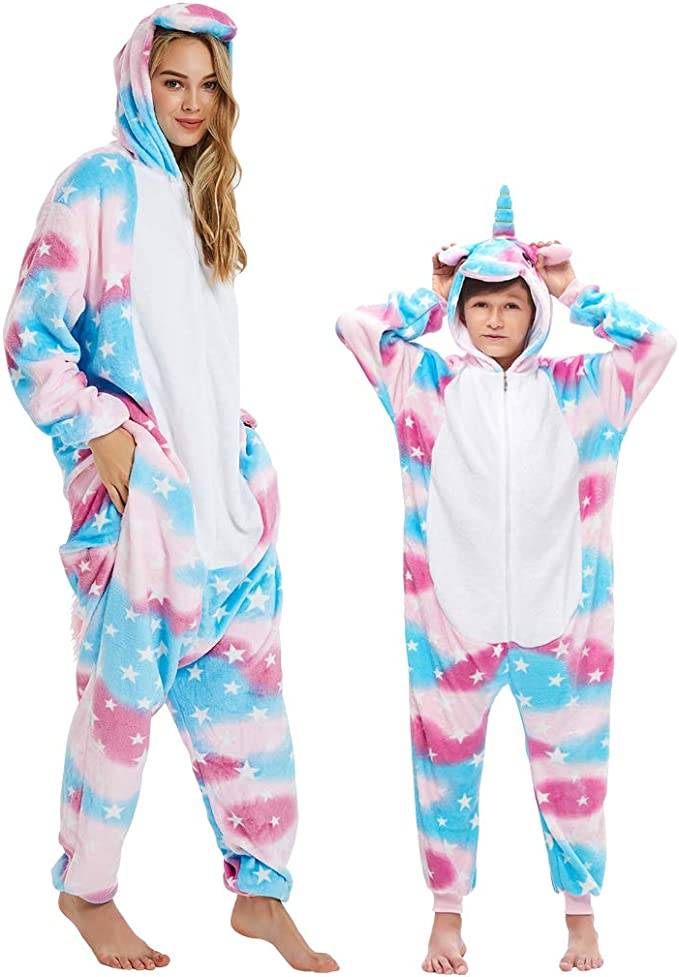 DEBAIJIA Pijama Animal para Niños Niñas Disfrace Franela Traje ...