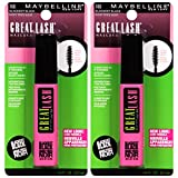 Maybelline New York Great Lash Washable Mascara Makeup, Blackest Black, 2 Count