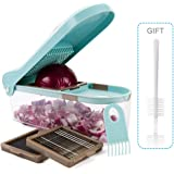 Vegetable Chopper Dicer Cutter 3 Interchangeable Stainless Steel Blades - Fruit Cheese Onion Vegetable Chopper Dicer Kitchen Helper