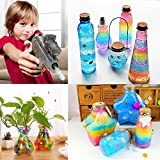 Water Beads, Elongdi Colorful Jelly Water Beads Orbeez Grow Many Times, Rainbow Mix Over 45,000 Orbies Beads (Rainbow)
